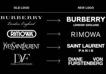Logo của các thương hiệu thời trang cao cấp ngày càng giống nhau