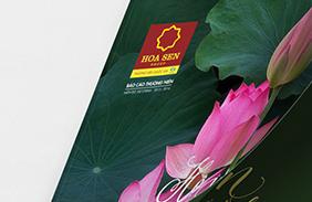 Thiết kế báo cáo thường niên cho Hoa sen group