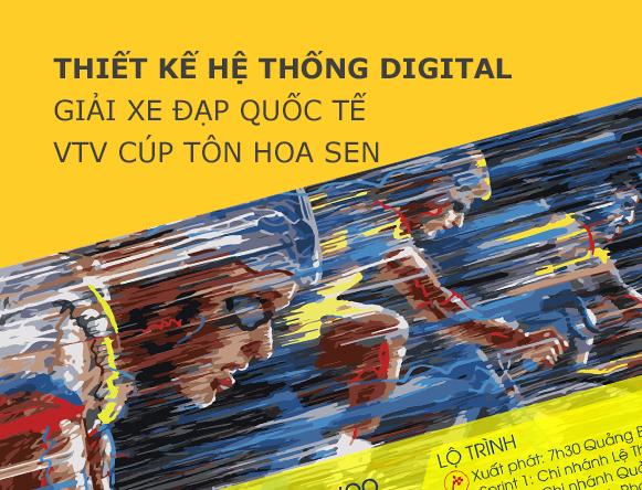 Thiết kế hệ thống Digital Giải xe đạp quốc tế VTV cup Tôn Hoa Sen